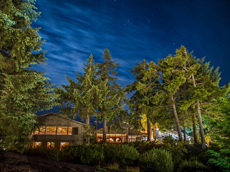 Salishan Coastal Lodge at Night